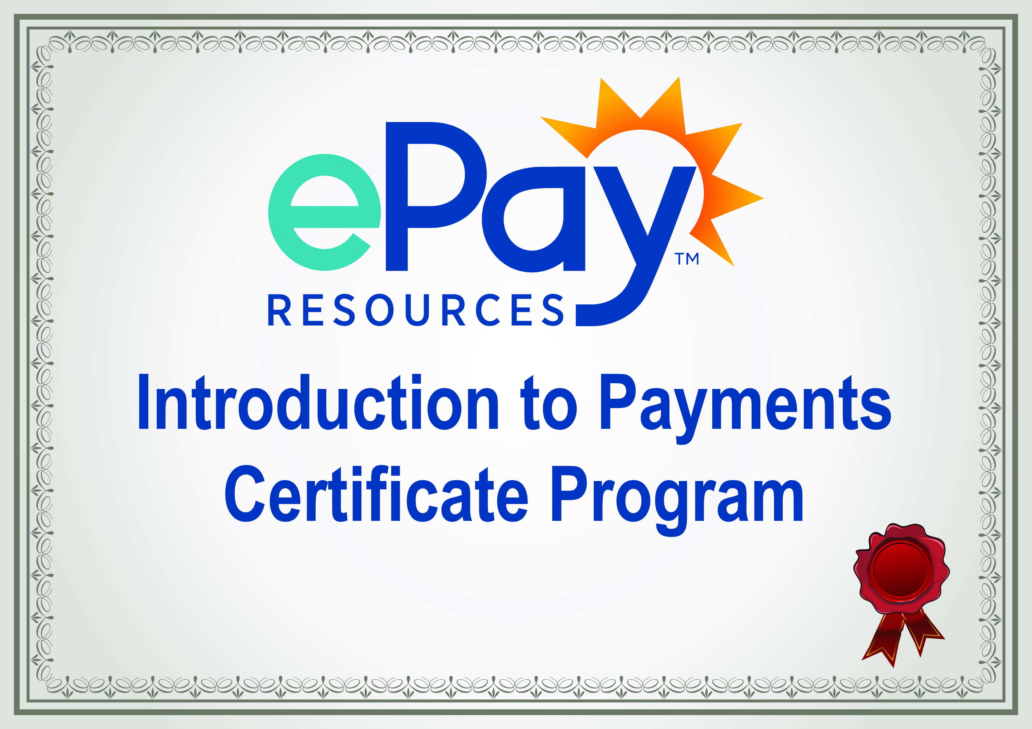 Introduction To Payments Certificate Program
